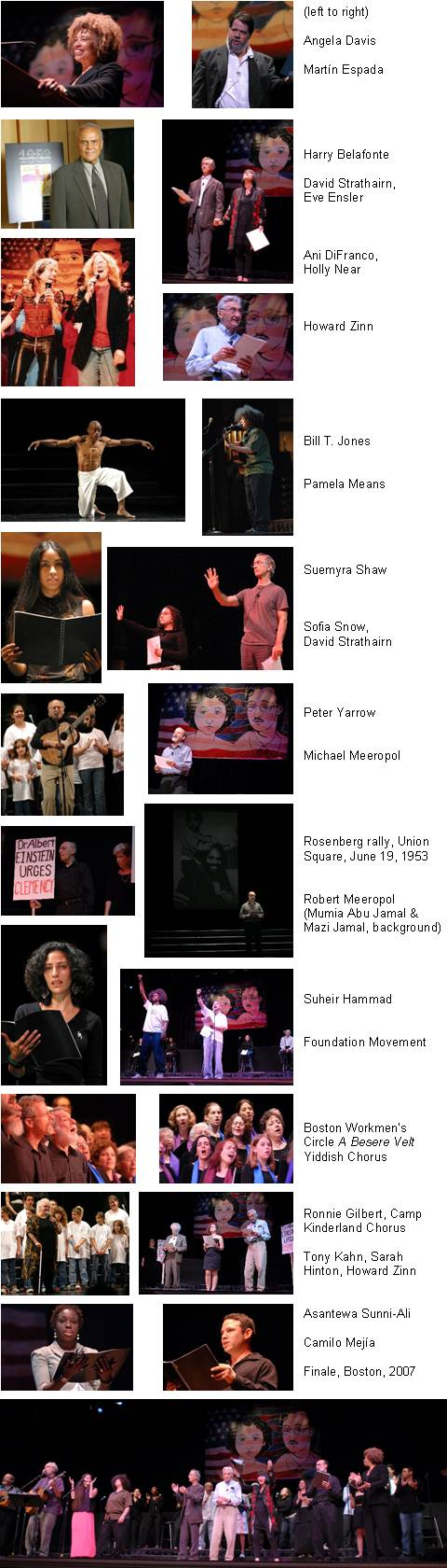 Image Collage from Celebrate performances